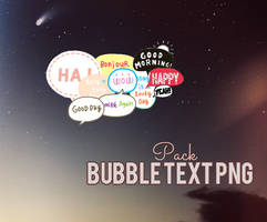 Bubble Text PNG pack