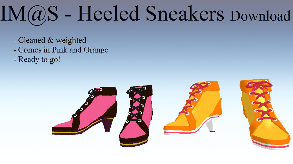 MMD Heeled Sneakers DOWNLOAD by Scarcia-Chan