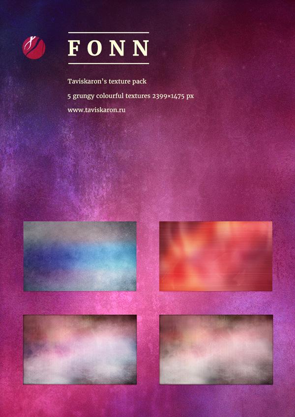 Fonn Grungy Colourful Texture Pack by taviskaron