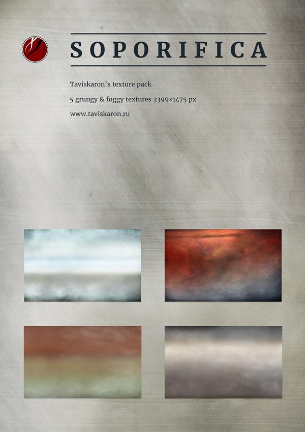 Soporifica Foggy Cloudy Grunge Texture Pack by taviskaron