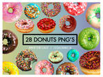 28 Donuts PNG'S