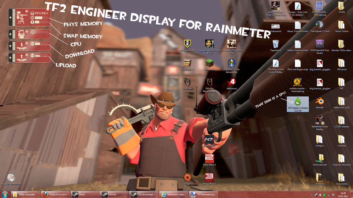 TF2 Engineer display for Rainmeter by Freaky333