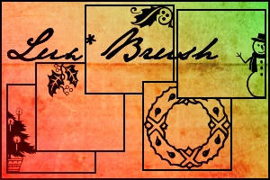 Xmas Borders Brushes by luxbella