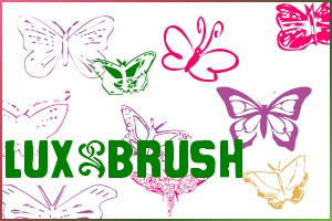 Mariposa - Brushes by luxbella
