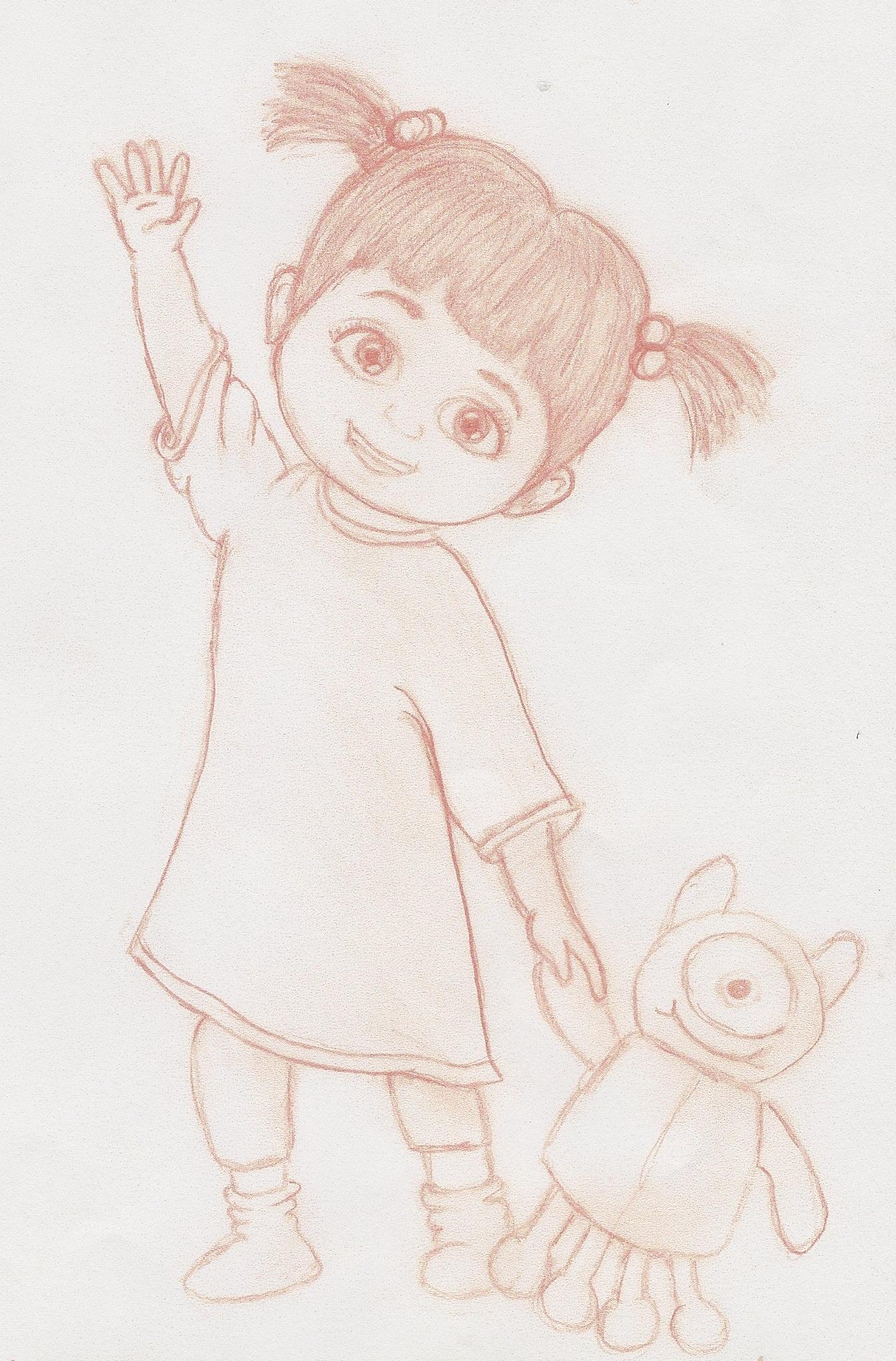 Boo Sketch Monsters Inc By Misspurplepanda On Deviantart