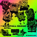 7 Brushes Bob Esponja + Extra