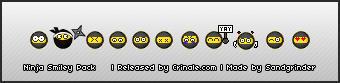 Ninja Smiley Pack by Sandgrinder