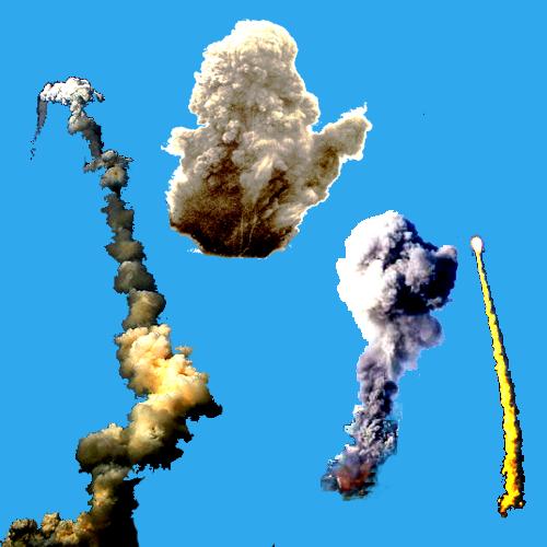 Smoke blast Photoshop Brushes by photoshopweb