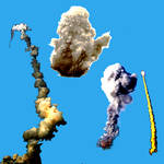 Smoke blast Photoshop Brushes