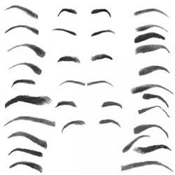 28 Eyebrow Photoshop Brushes