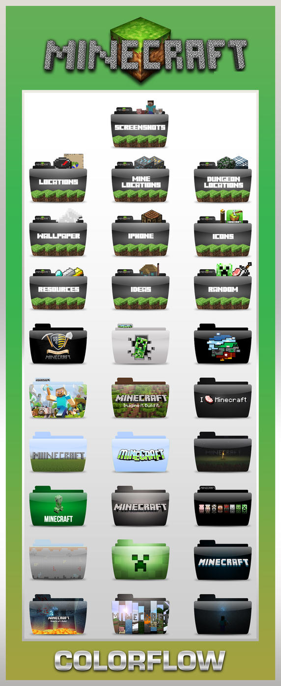 Colorflow Minecraft Folders by TMacAG