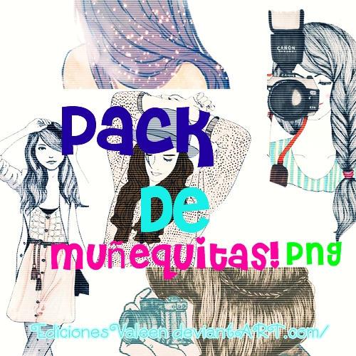 Pack de muNequitas PNG. by EdicionesValeen