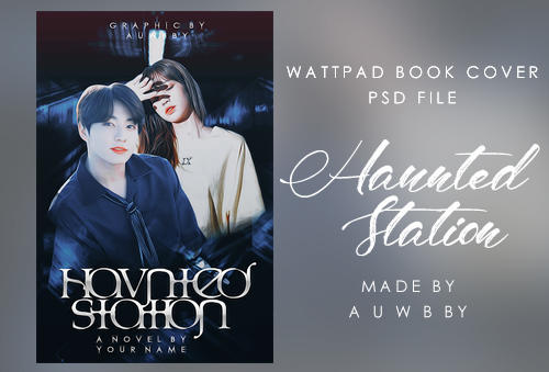 PSD File | Book Cover | Haunted Station