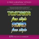 FREE Landscape Styles for Adobe Illustrator #2