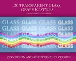 20 Transparent Glass Styles for Adobe Illustrator