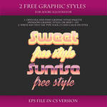 FREE Colorful Graphic Styles for AI #7