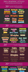 200 Graphic Styles for Adobe Illustrator by Love-Kay