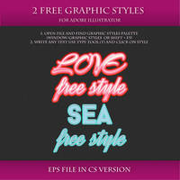 FREE Graphic Styles for Adobe Illustrator #13 by Love-Kay