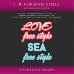 FREE Graphic Styles for Adobe Illustrator #13