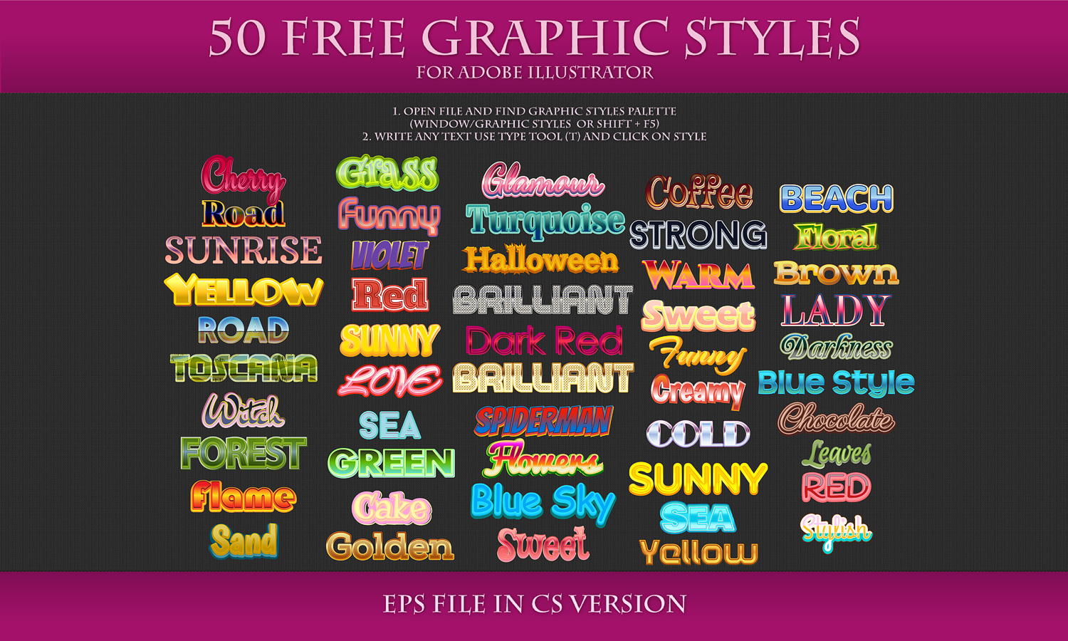 50 FREE Styles for Adobe Illustrator by Love-Kay on DeviantArt