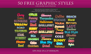 50 FREE Styles for Adobe Illustrator