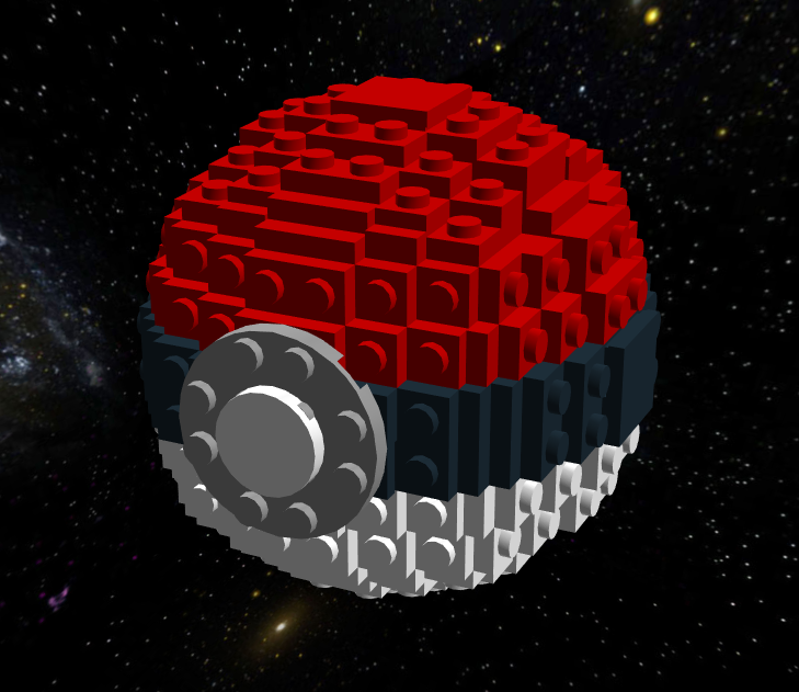 Lego PokeBall Build Instructions by IconoKlasm
