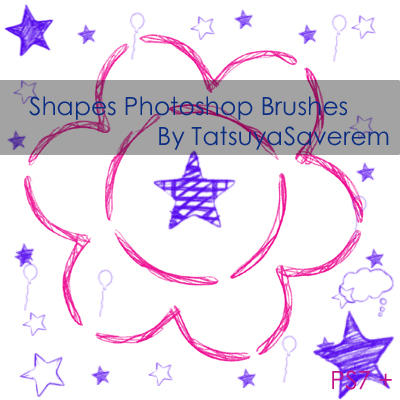 Photoshop Brushes- Shapes by tatsuyasaverem