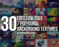 30 Free Polygonal Low Poly Background Textures