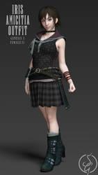 FREEBIE Iris Amicitia Outfit (Genesis 3) by SaintsGringo