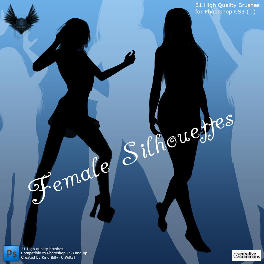 Female Silhouettes by King-Billy