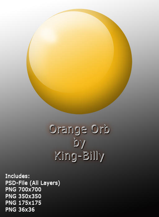 Orange orb by King-Billy