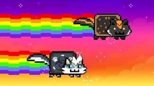 Kitsebi and Yusuke - ANIMATED NYAN CAT YCH