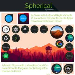 Spherical 1.0 for Rainmeter by NiketanG