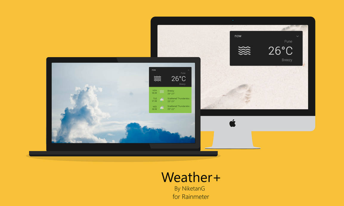 Weather+ 1.4 for Rainmeter by NiketanG