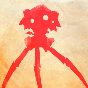 Movie Poster The War of the Worlds (animated GIF)