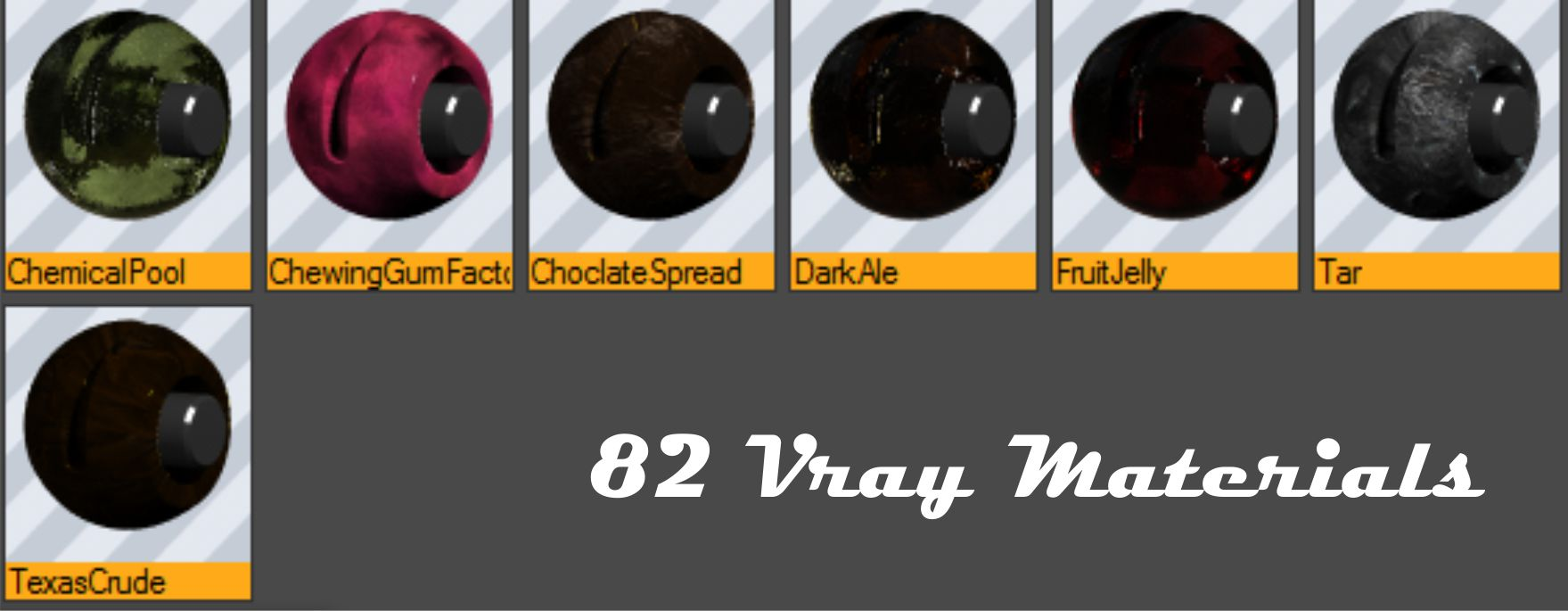 82 Vray Materials (Library) for Cinema 4D by bestm8 on