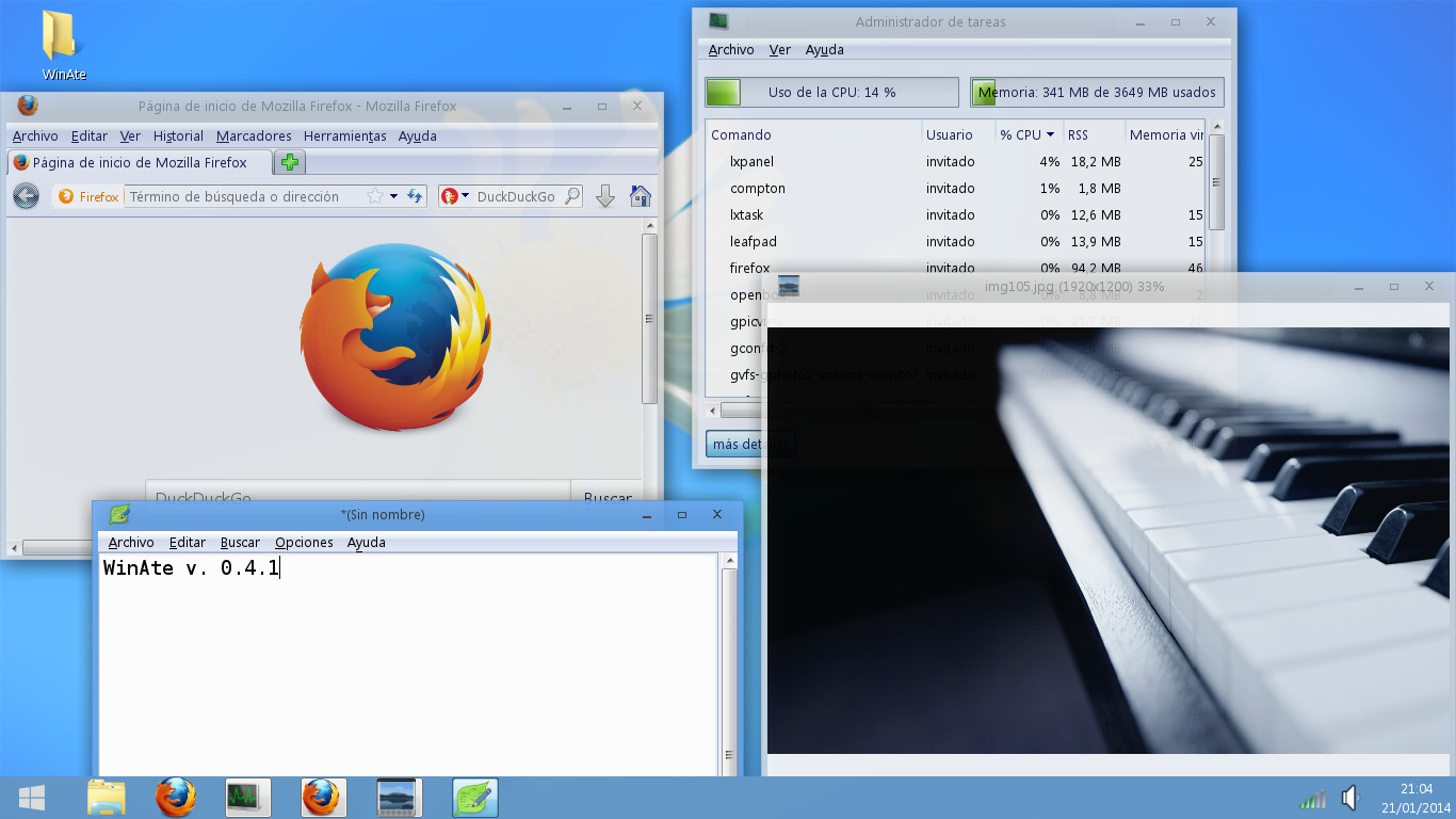 WinAte - Windows 7/8 Transformation Pack for LXDE