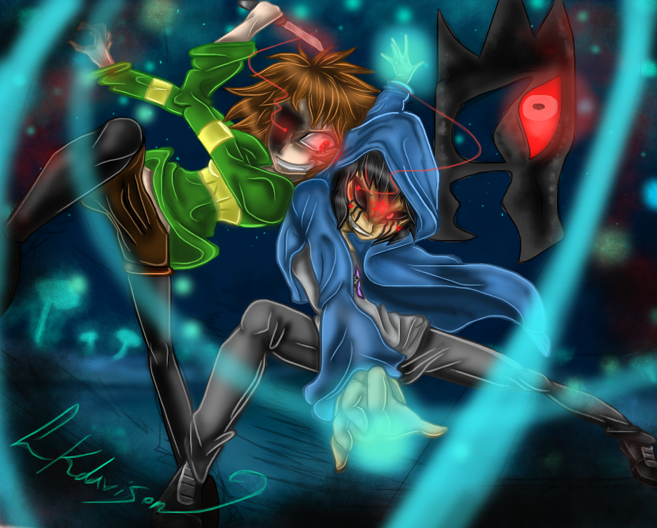 ART TRADE Killer Arashi vs Chara by sonicfangirl666
