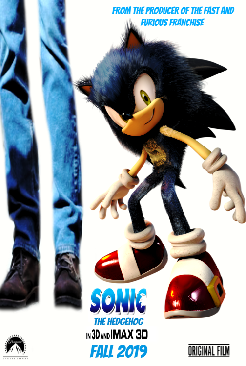 Sonic The Hedgehog Movie 2019 Movie Poster By Tylercluberlang On