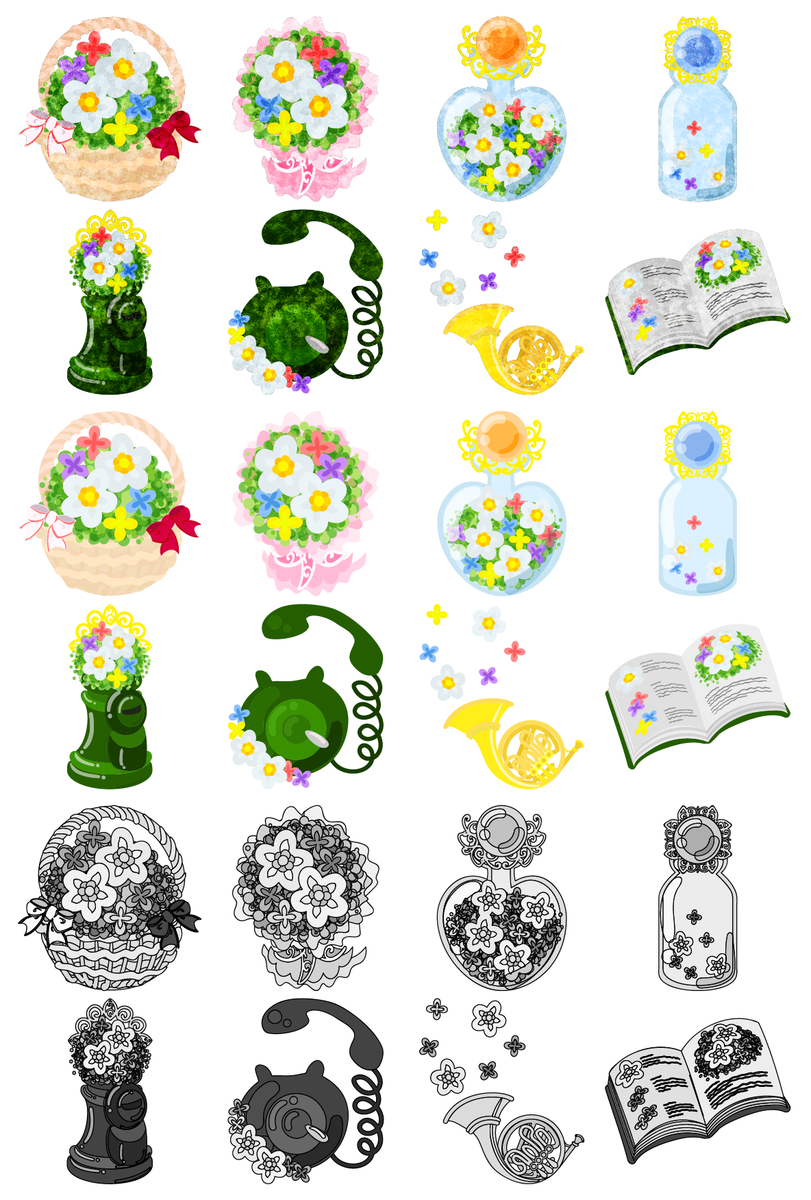 the cute icons of small flowers by atelierbw on deviantart