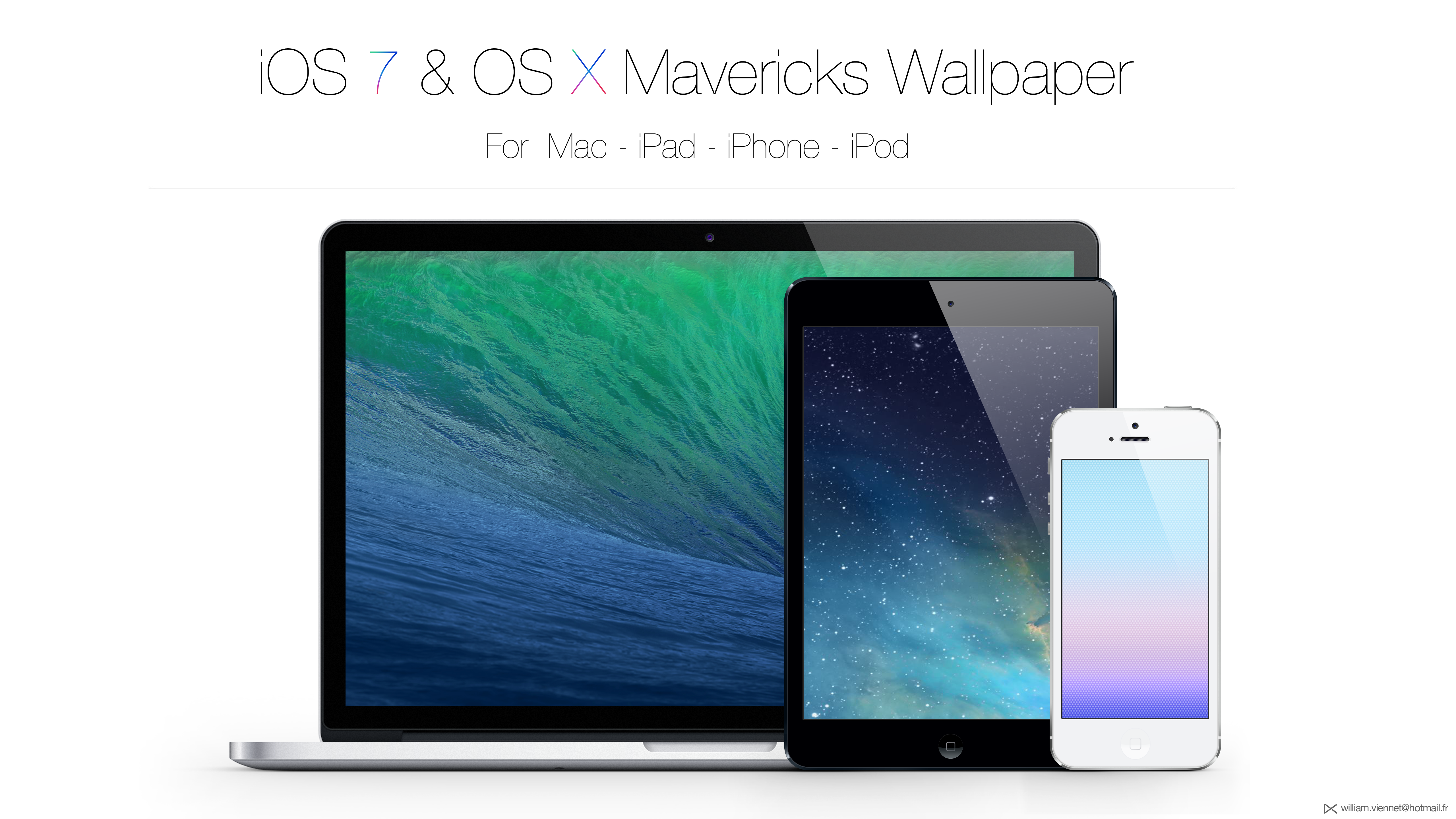 iOS 7 / OS X Mavericks Wallpaper by WillViennet