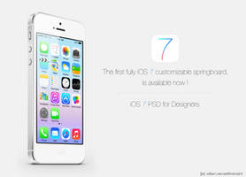iOS 7 customizable PSD by WillViennet