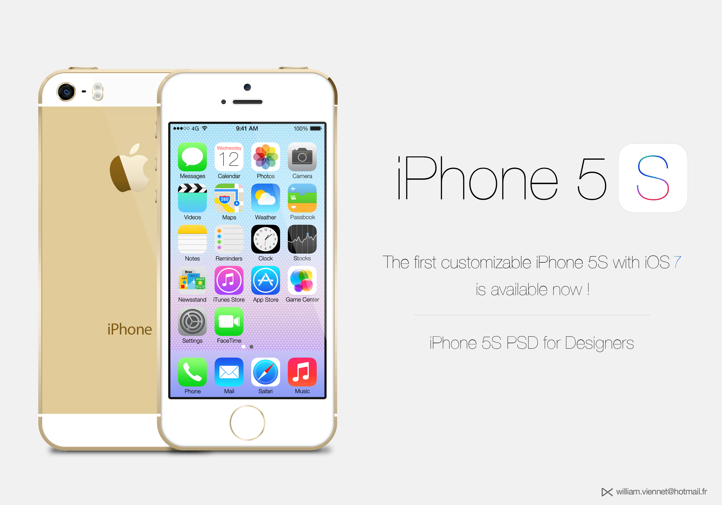 iPhone 5S Gold customizable PSD by WillViennet on DeviantArt