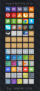 Square Buttons 48 px PNG+ICO
