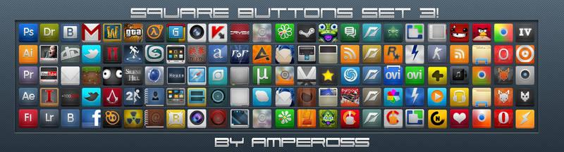 Square Buttons Set 3