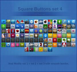 Square Buttons 48 px Set 4