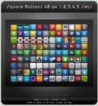 Square Buttons 48 px Sets 1-5