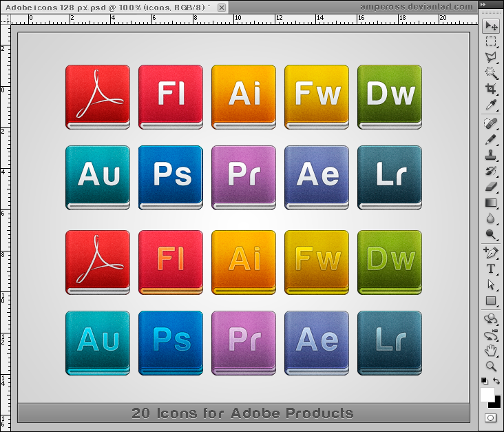 Adobe icons 128 px by Ampeross
