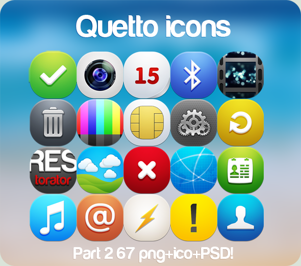 """Qetto"" icons part 2 by Ampeross"
