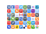 Qvoppies: Free social icons + PSD by Ampeross